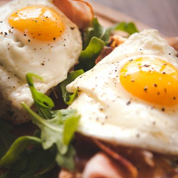 Fried eggs sunny side up on french baguette, ham and arugula, arizona advertising, restaurant trends, restaurant advertising, advertise your restaurant, advertising results, arizona ad agency, ljw ad agency, larry john wright, larry john wright advertising